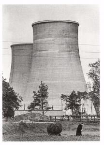 Postcard Power Station Cooling Towers, Trattendorf, Spreewald, E.Germany 1958 #T