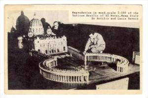 1:100 scale model of Vatican Basilic, 40-50s