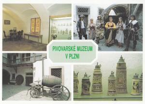 Pilsen Brewery Museum Czech Republic Soviet Alcohol Factory Postcard