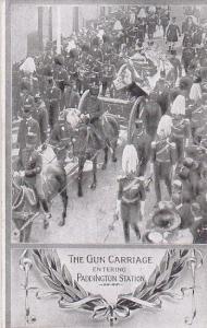 Gun Carriage entering Paddington Station , London , England, 00-10s
