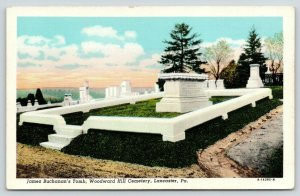 Lancaster PA~James Buchanan Tomb~Woodward Hill Cemetery~Gravestones~1931 PC
