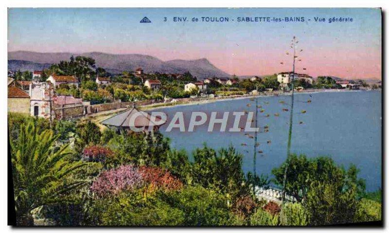 Old Postcard surroundings Toulon Sablette les Bains Vue Generale