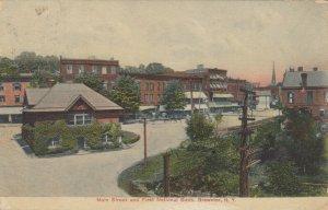 BREWSTER, New York, 1911; Main Street & First National Bank