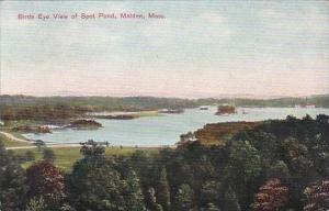 Massachustetts Malden Birds Eye View Of Spot Pond