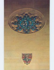 Pre-1980 WASHINGTON ROSE WINDOW AT CHURCH Valley Forge Pennsylvania PA L4095