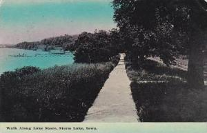 Iowa Storm Lake Walk Along Lake Shore 1914