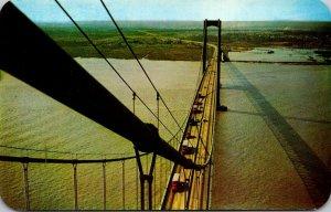 Delaware The Delaware Memorial Bridge Over Delaware River