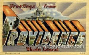 Providence, RD., Rhode Island, USA Large Letter USA Town, Towns, Postcard Pos...