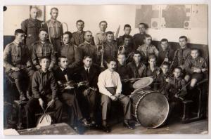 RPPC, Romanian Soldiers - Band