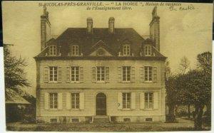 France St Nicolas Pres Granville La Horie Maison de Vacances etc - unposted mark