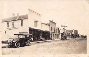 Dunkerton Iowa~Main Street~Bank~Bell Telephone~Vintage Cars Close~c1910 RPPC