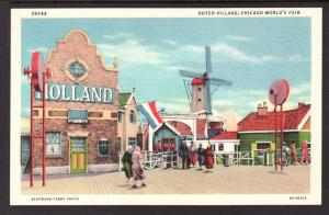Dutch Village,Chicago's World Fair Postcard