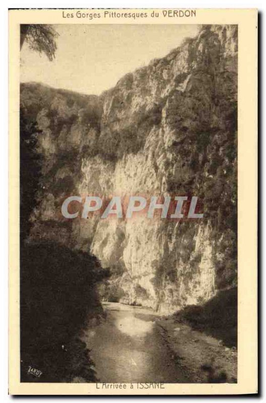 Old Postcard The Verdon Gorge Scenic L Arrive in Issane