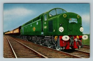 The Master Cutler All Pullman Express Train, Chrome Postcard