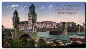 Postcard Old Coeln Hohenzoliernbrucke
