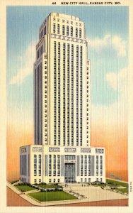 Missouri Kansas City New City Hall 1942 Curteich
