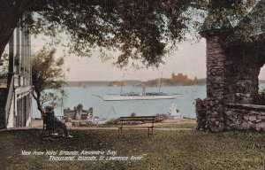 THOUSAND ISLANDS, Ontario, Canada, 1900-1910's; View From Hotel Grounds, Alex...
