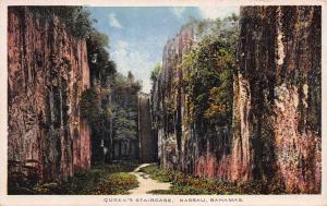 Queen's Staircase, Nassau, Bahamas, Early Postcard, unused