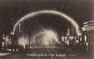 RP: MANSFIELD , Ohio, PU-1908 ; Main Street at Night