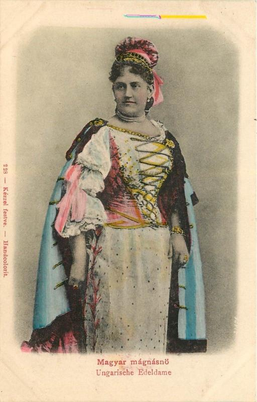 Magyar Magnasnao Ungarische Edeldame Undivided Back Handcolored Postcard Hungary