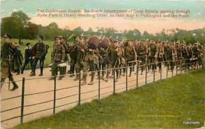 C-1915 WW1 UK Military Coldstream Guards Hyde Park WCA postcard 3630