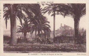 France Cannes Vue sur le Suquet et las Iles 1935