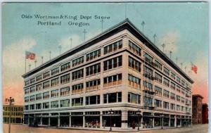 PORTLAND, OR  Oregon   OLDS, WORTMAN & KING DEPARTMENT STORE  1915   Postcard