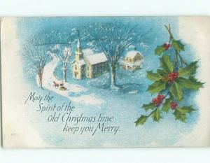 Divided-Back CHRISTMAS SCENE Great Postcard W9342