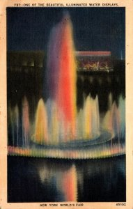 New York World's Fair 1939 One Of The Beautiful Illuminated Water Displa...
