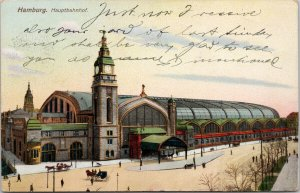 Hamburg Hauptbahnhof Germany c1910 Ottmar Zieher Postcard E81