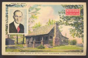 BRANSON MISSOURI SHEPHERD OF THE HILLS HAROLD BELL WRIGHT VINTAGE POSTCARD MO.
