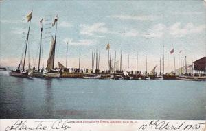 Inlet Pier & Barty Boats Atatlantic City New Jersey 1905