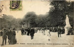 CPA Paris 6e Paris-Jardin du Luxembourg-Un jour de musique militaire (312771)