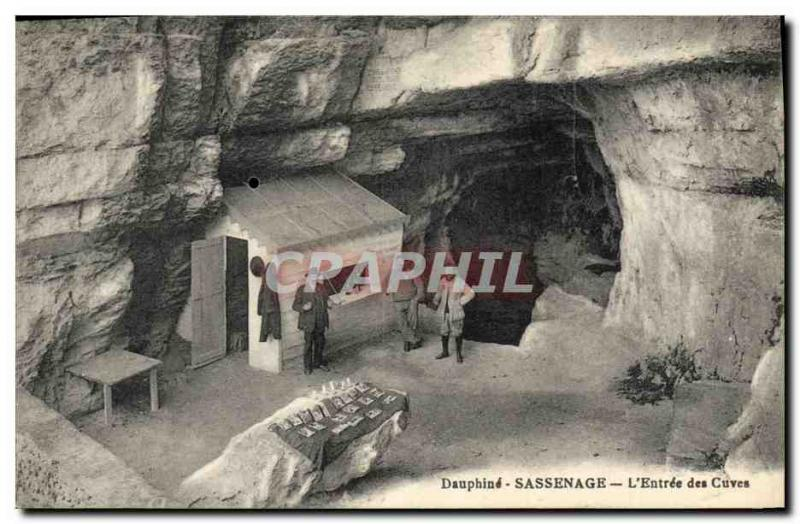 VINTAGE POSTCARD Sassenage Postcards the entry of the caves