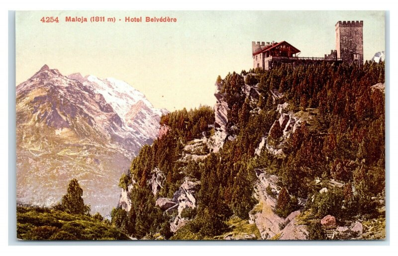 Postcard Maloja (1811 m) Hotel Belvedere, Switzerland G63