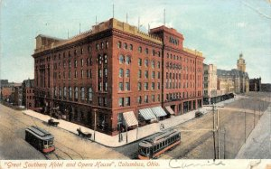 Great Southern Hotel & Opera House Columbus, Ohio 1909 Vintage Postcard
