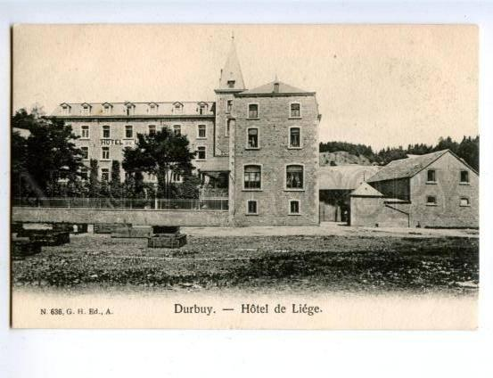 158171 Belgium DURBUY HOTEL LIEGE ADVERTISING of AU PIED D'OR