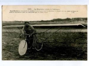 205249 FRANCE AVIATION airplane bicycle Ladougne #1640