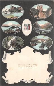 Killarney multiviews Bridge Waterfall Cascade Pont Church River Boats