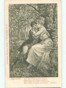 Divided-Back PRETTY WOMAN Risque Interest Postcard AA8341