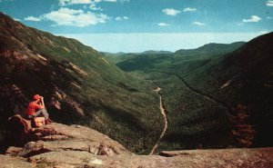 Crawford Notch, NH, from Ledge of Mt. Willard, Chrome Vintage Postcard g8516