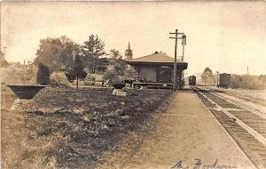 Sandown NH Railroad Station Train Depot Chester NH RFD Cancel RP Postcard