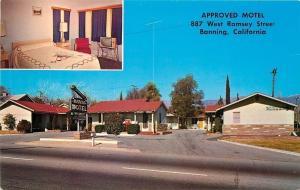 Banning California~Bonita Motel~Interior Guest Room~Blonde TV~1950s PC