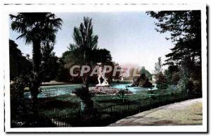 Postcard Modern Montelimar The Public Garden