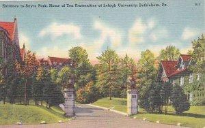 Pennsylvania Bethlehem Sayre Park Entrance Home Of Ten Fraternities Lehigh Un...