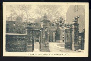 Burlington, New Jersey/NJ Postcard, Entrance Gate, Saint Mary's Hall