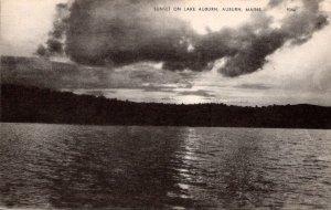 Maine Auburn Sunset On Lake Auburn