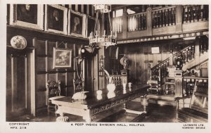A Peep Inside Shibden Hall Halifax Yorkshire Real Photo Old Postcard