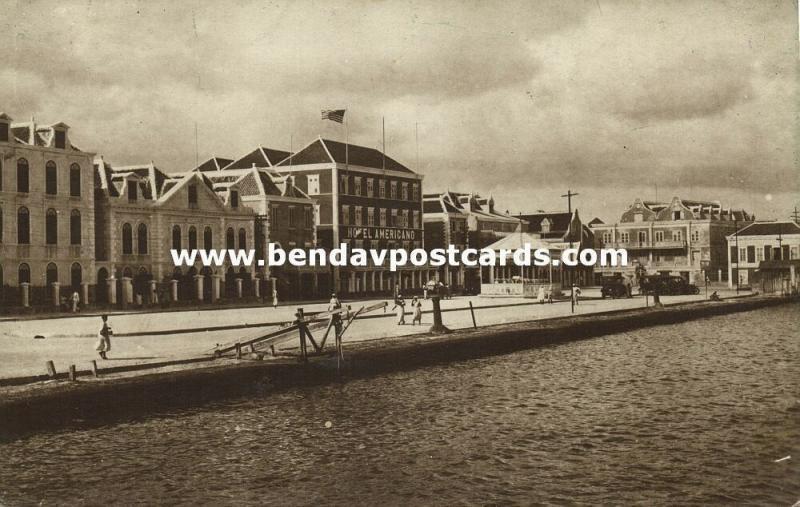 curacao, D.W.I., WILLEMSTAD, Otrabanda, Waterfront, Hotel Americano (1920s)