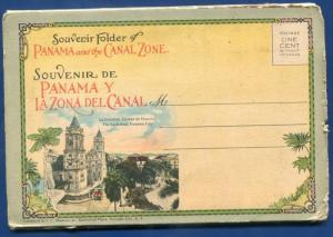 Panama & Canal La Zona del Club House Ancon Hospital Chorrera Fallls postcard